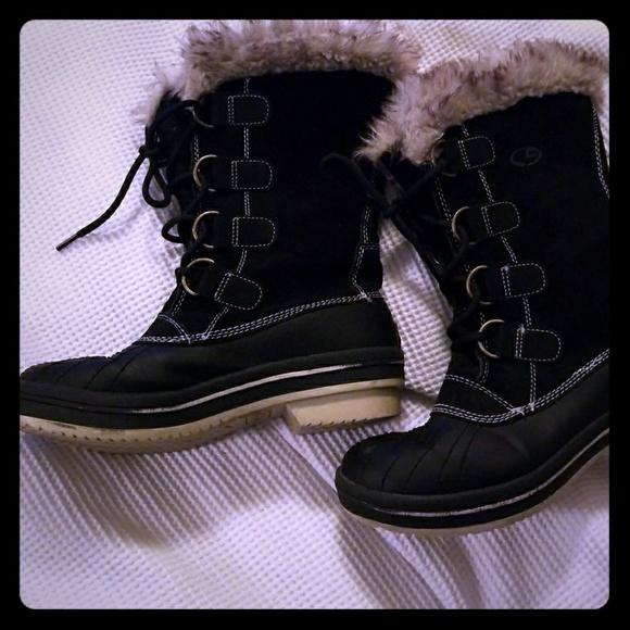 0128ba1fe8d2d Champion Shoes - Size 6 suede amd faux fur collar winter boots